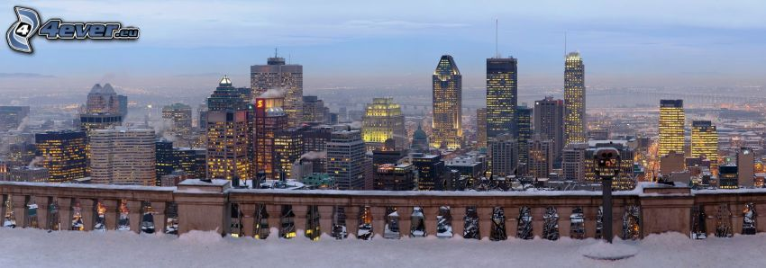 Montreal, view of the city, snow