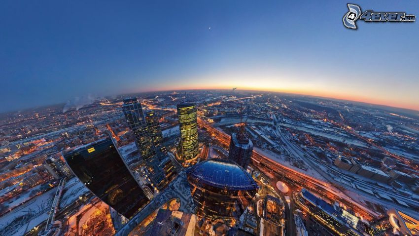 Moscow, evening city, HDR
