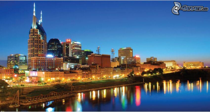 Nashville, evening city