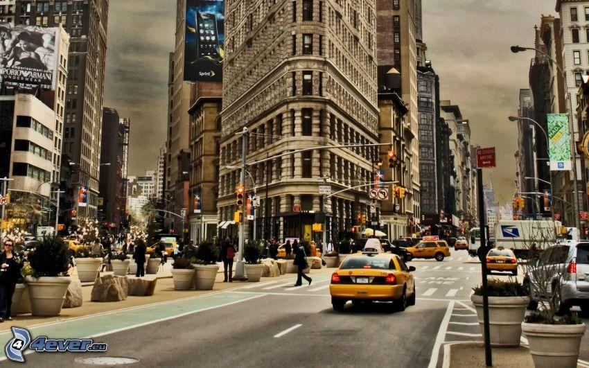 New York, Flatiron, streets