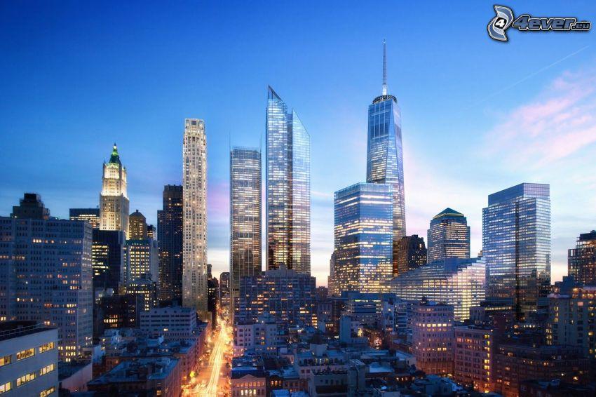 New York, Four Seasons Hotel, Freedom Tower, 1 WTC, skyscrapers