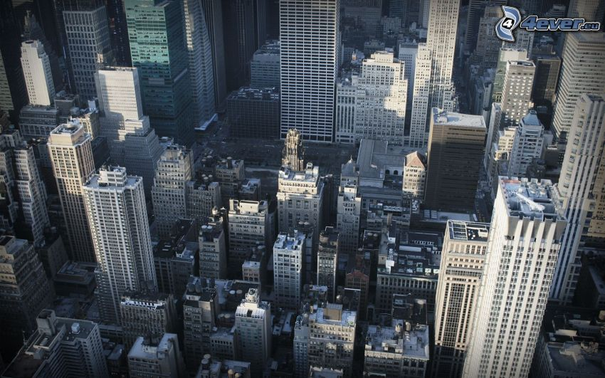 New York, Manhattan, skyscrapers