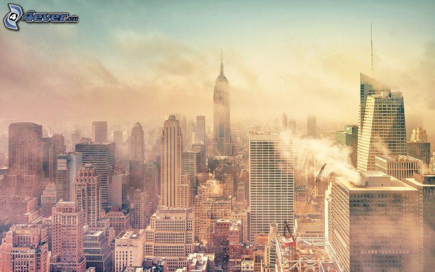 New York, smog