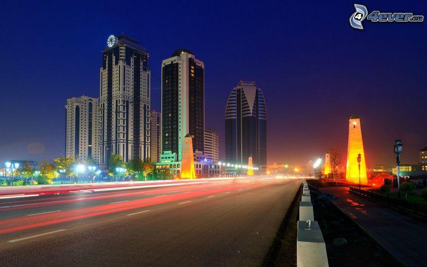 night city, night highway