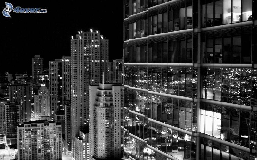 night city, skyscrapers