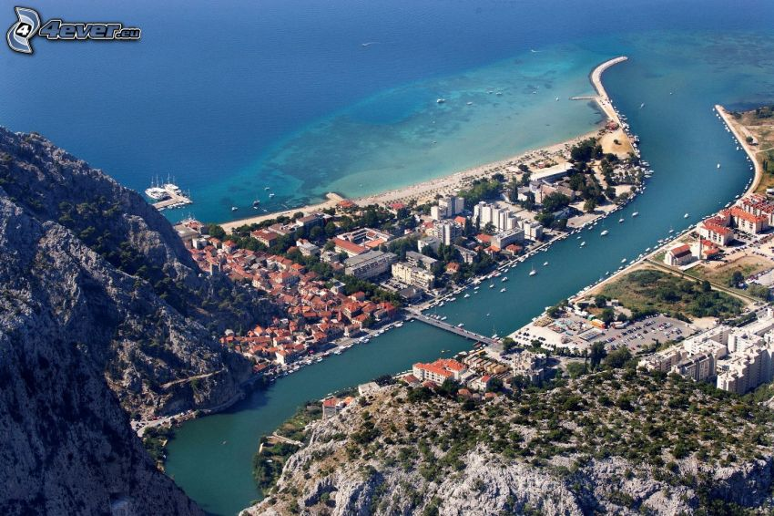 Omiš, Croatia, seaside town