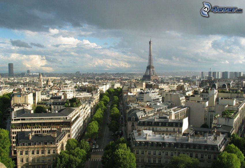 Paris, France, Eiffel Tower, view of the city