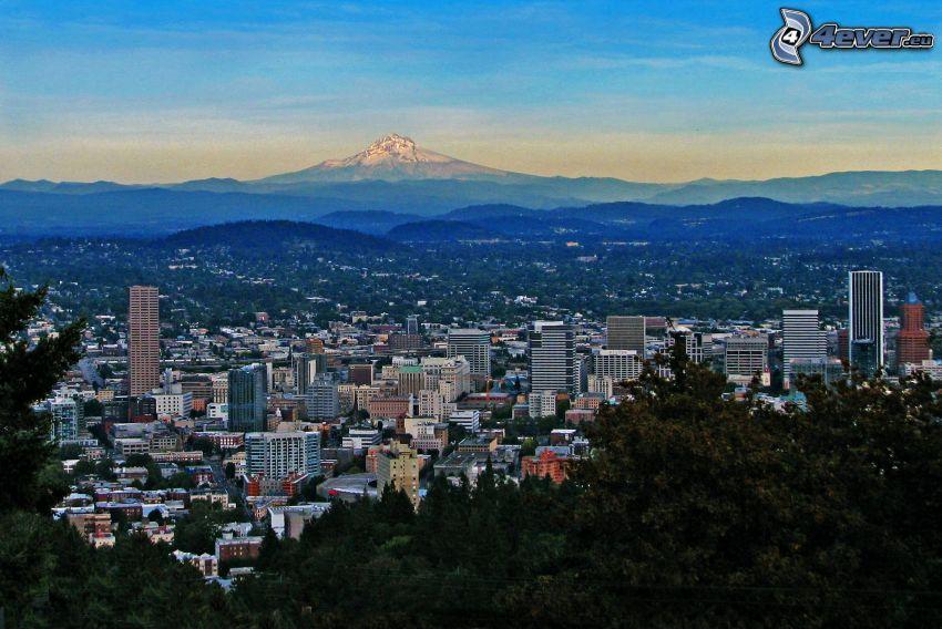 Portland, snowy hill