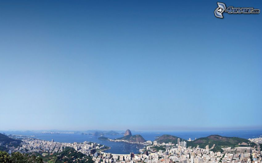 Rio De Janeiro, seaside town, view of the city