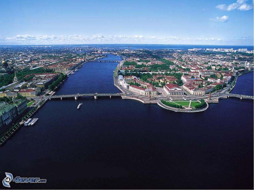 Saint Petersburg, peninsula, sea