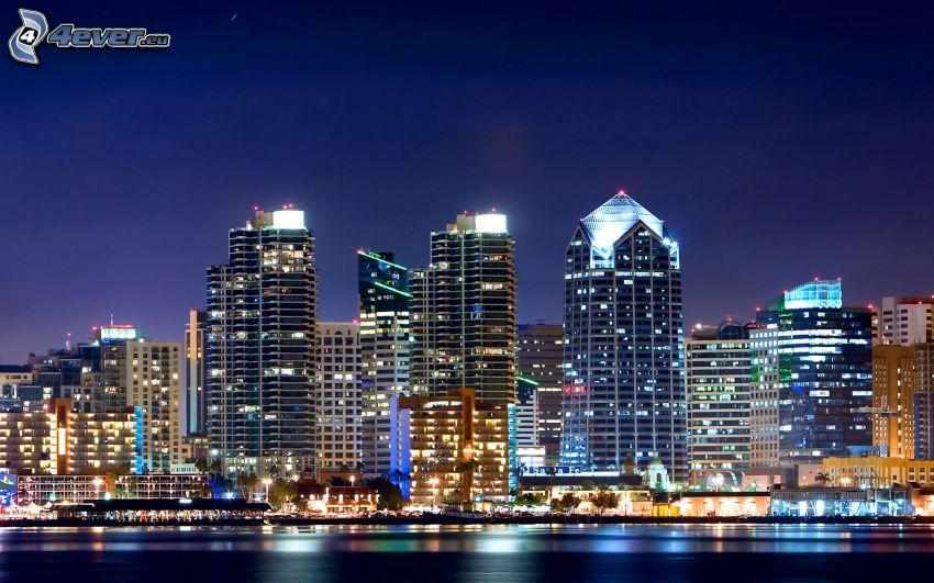 San Diego, night city
