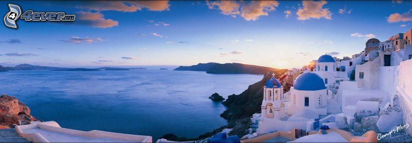 Santorini, sea