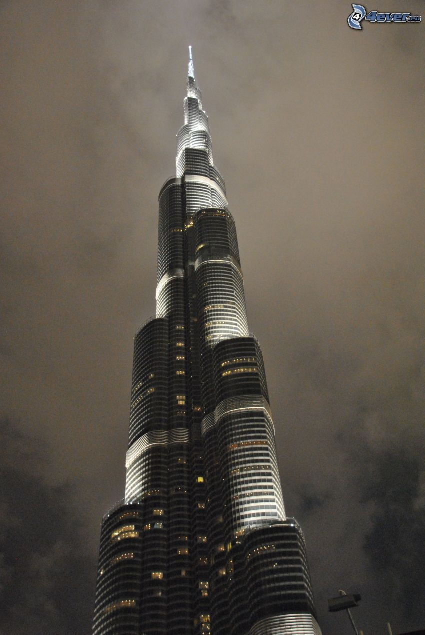 skyscraper, night
