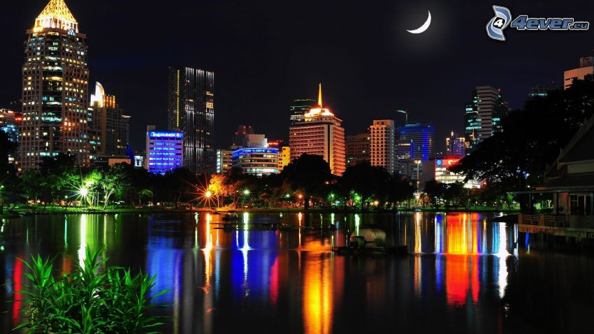 Thailand, night, moon