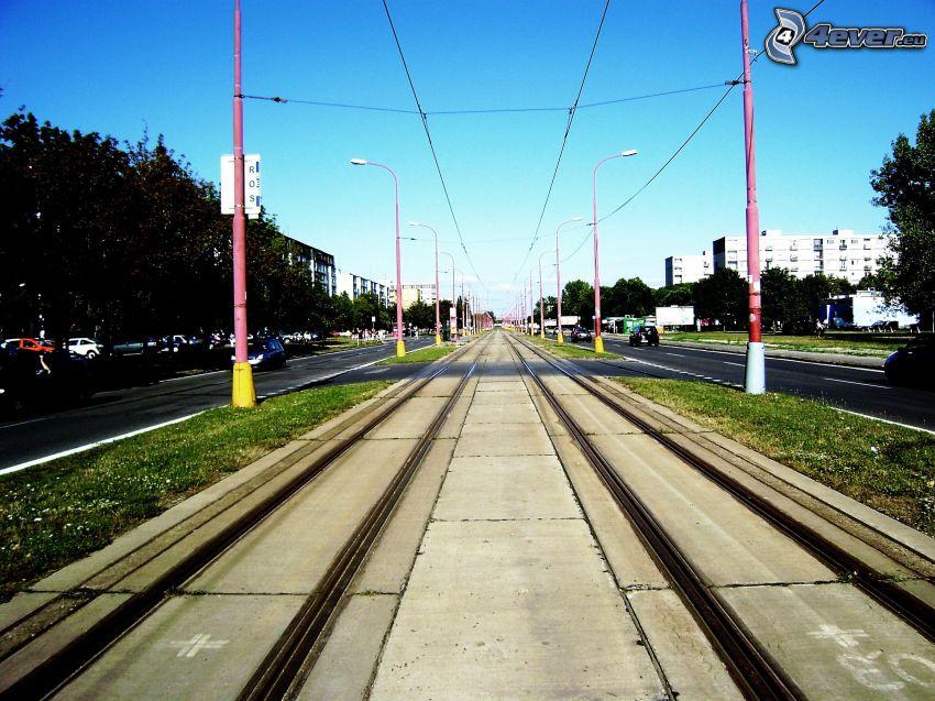 tramway track, Bratislava