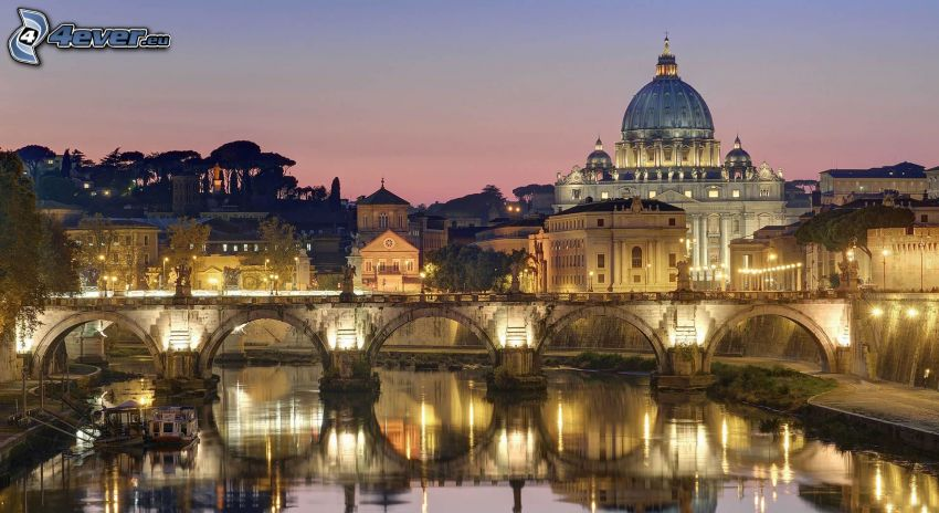 Vatican City, stone bridge
