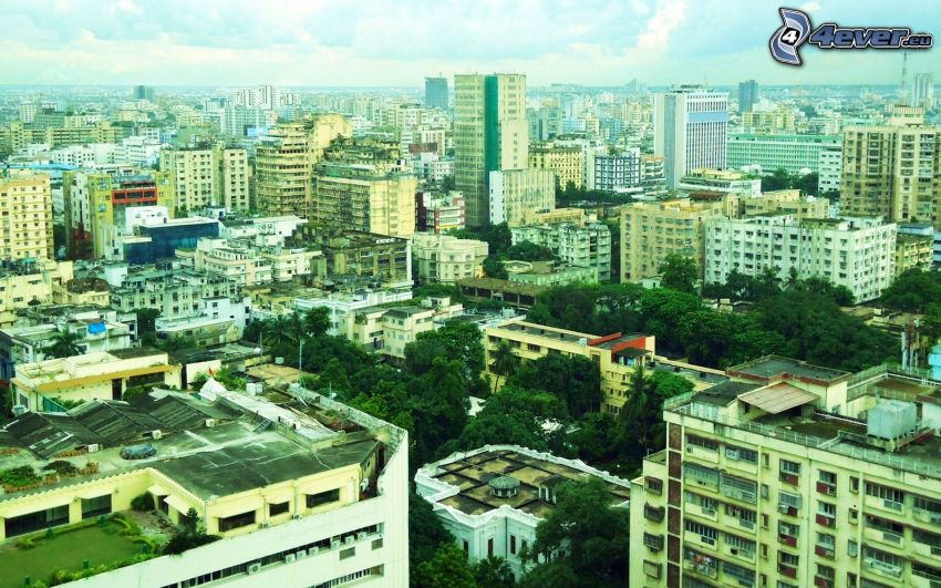 view of the city, housing, India