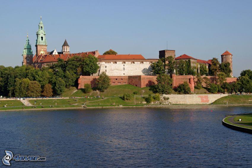 Wawel castle, Kraków, River