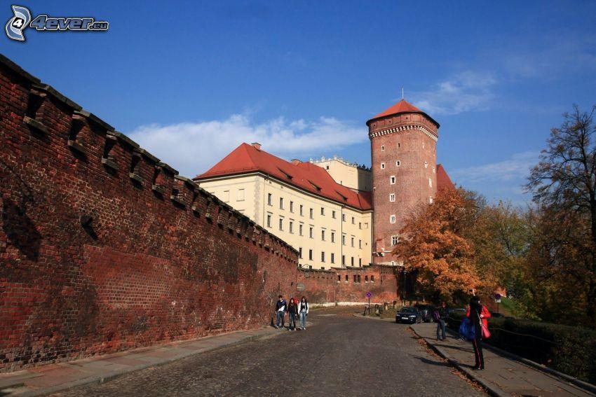 Wawel castle, Kraków, road
