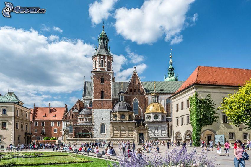 Wawel castle, Kraków, square