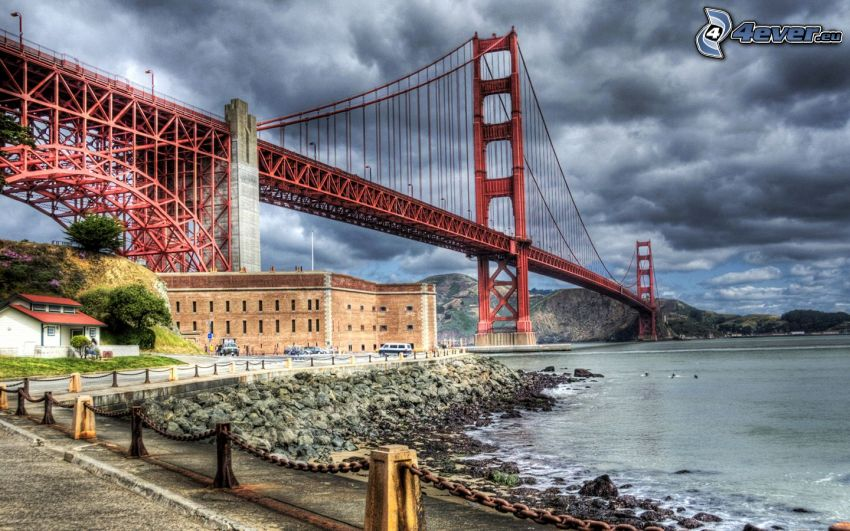 Golden Gate, USA, HDR