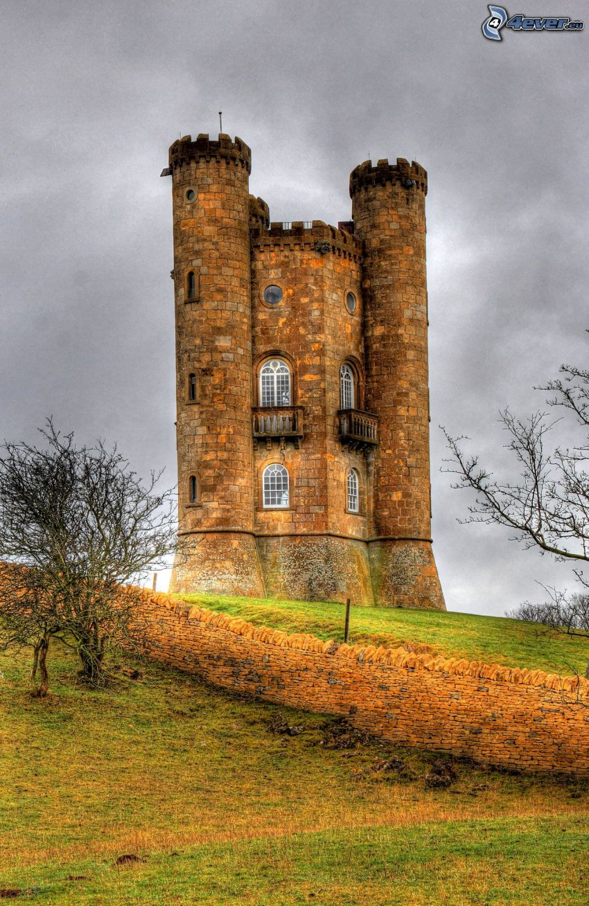 Broadway Tower, wall