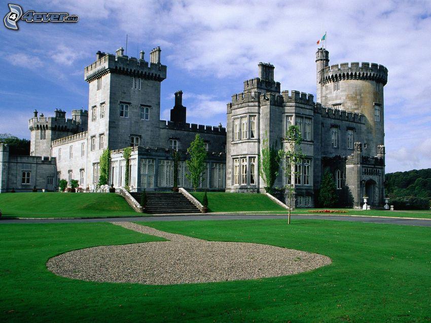 castle, lawn