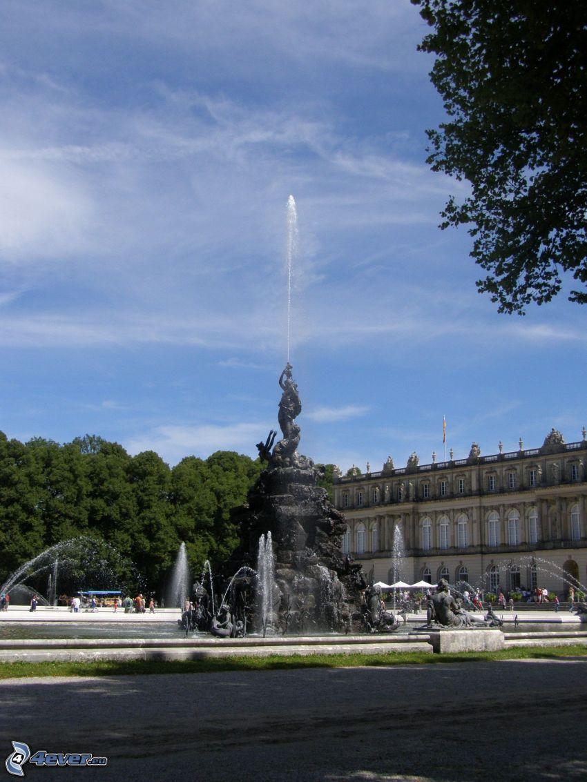 castle Ludwig II of Bavaria, fountain, Herrenchiemsee, Bavaria