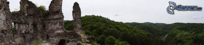 Castle Šášov, mountain