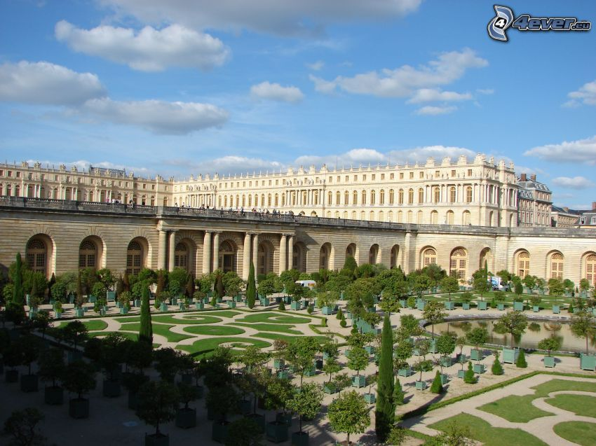 Castle Versailles, garden, trees