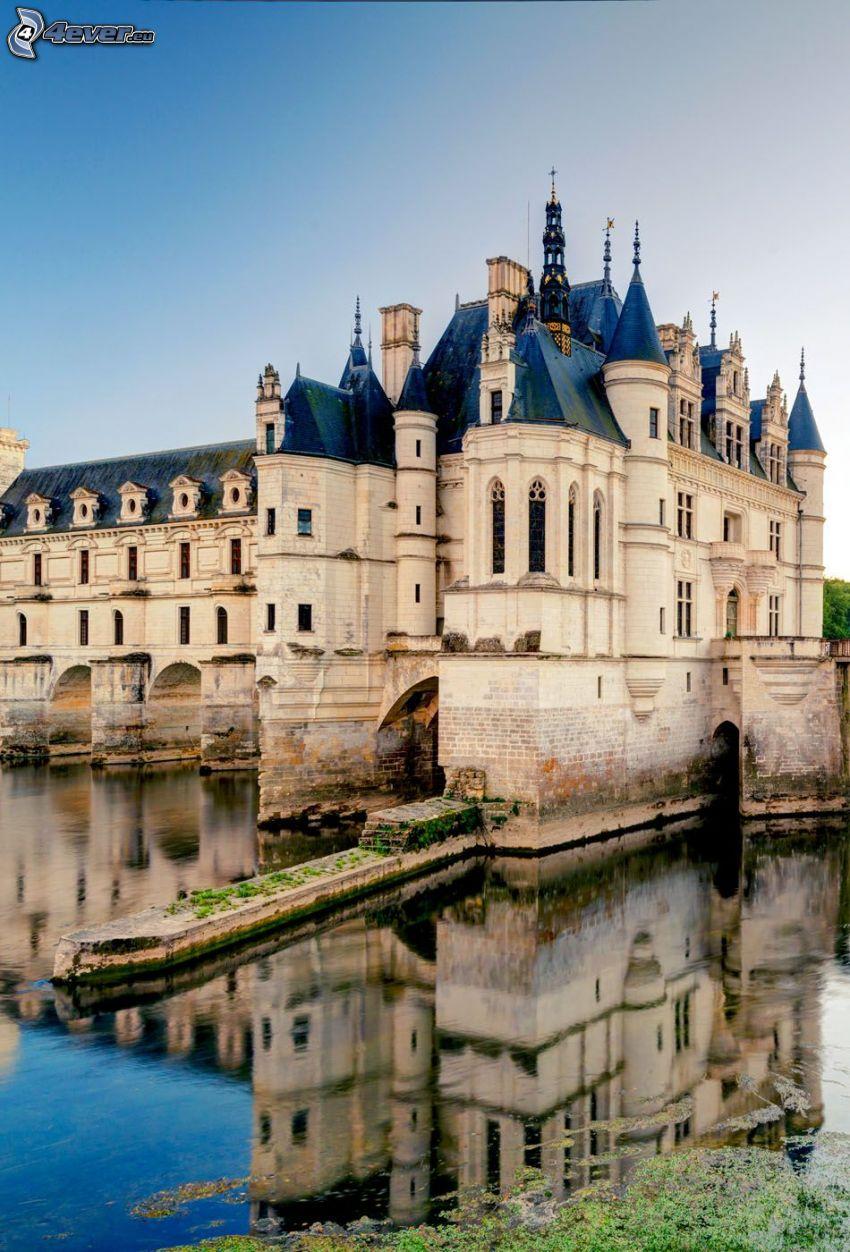 Château de Chenonceau, River, reflection