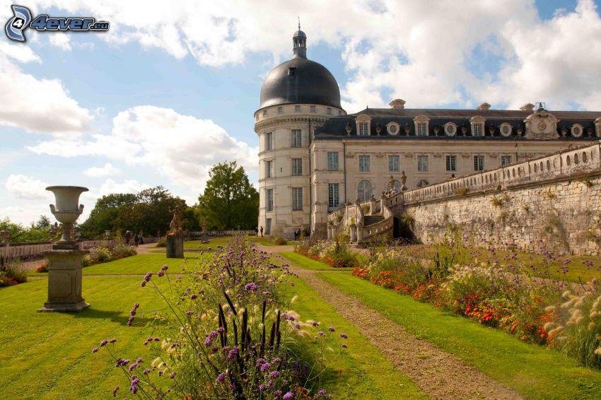 château de Valençay, garden