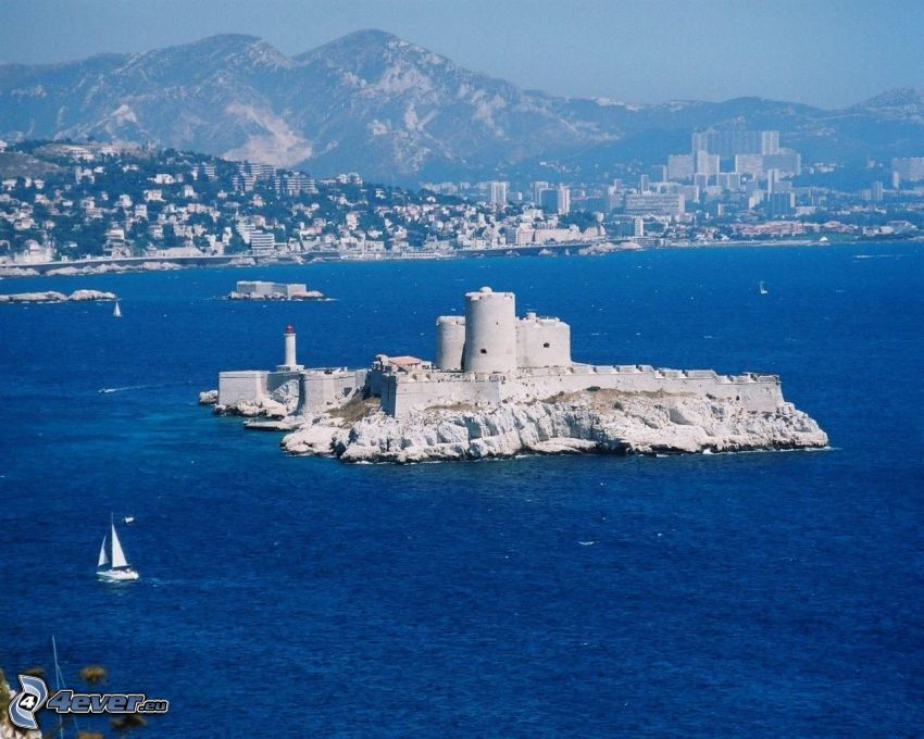 Château d'If, island, coastal city