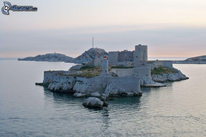 Château d'If, island, sea