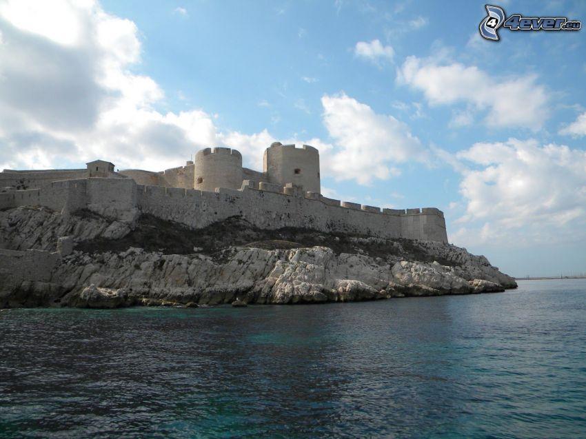 Château d'If, rocky shores