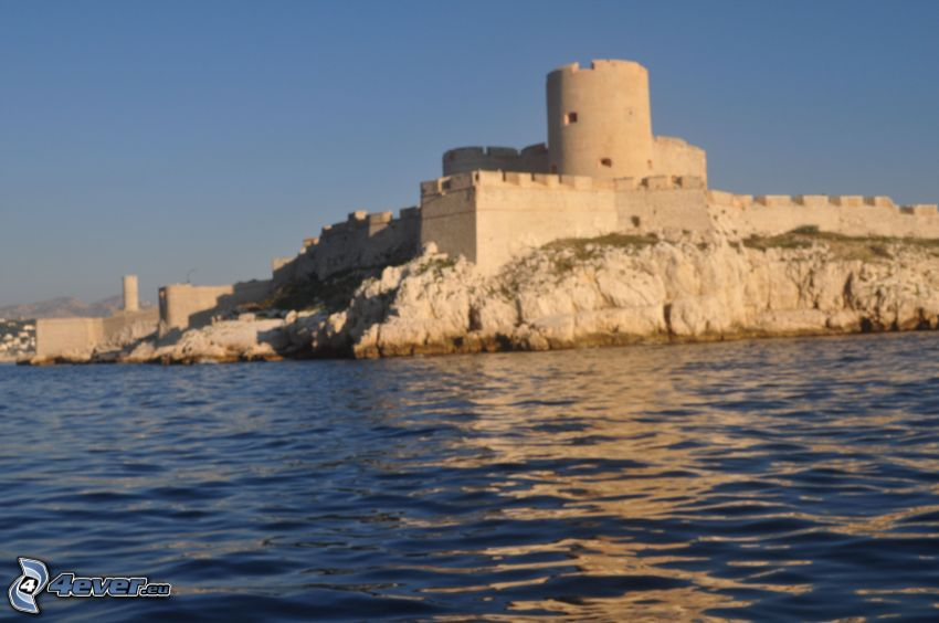 Château d'If, sea