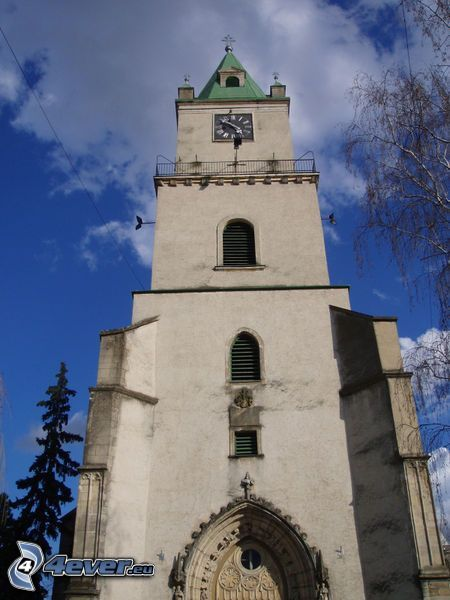 church, tower, bell tower
