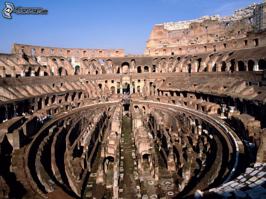 Colosseum, Italy, ruins