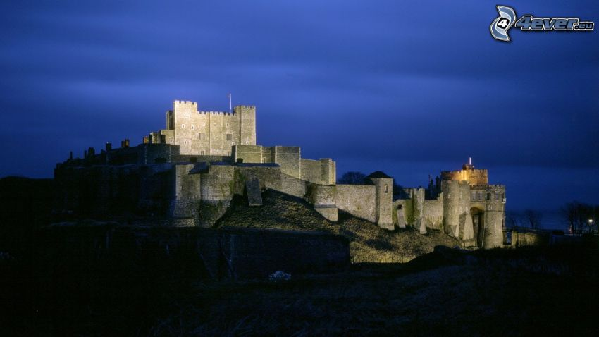 Dover Castle, night