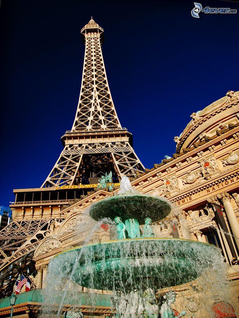 Eiffel Tower, fountain