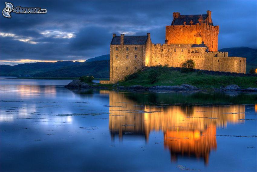 Eilean Donan, evening, reflection