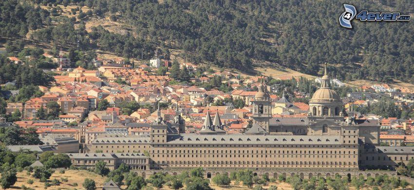 El Escorial, houses, forest