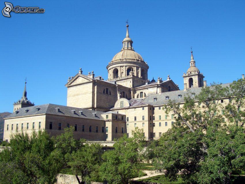 El Escorial, trees, dome
