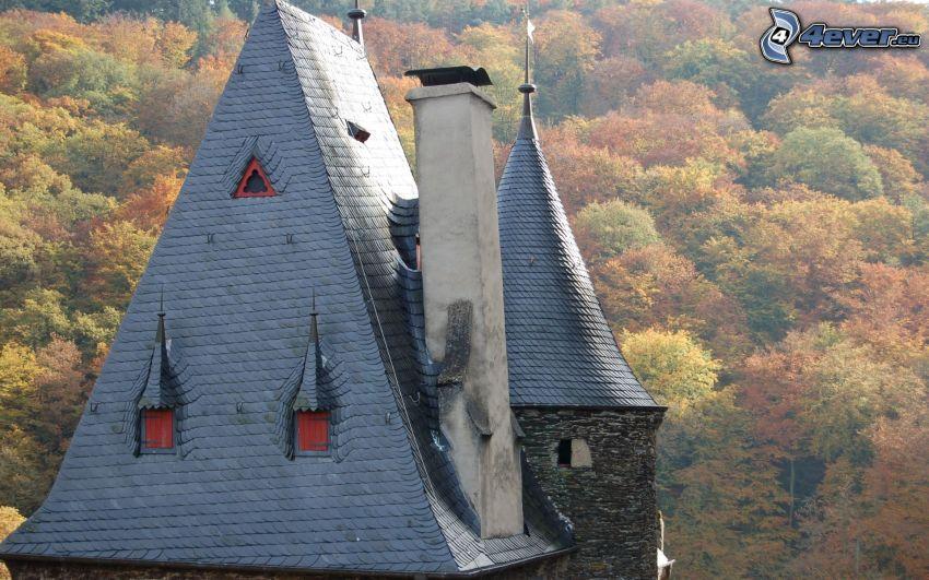 Eltz Castle, autumn forest