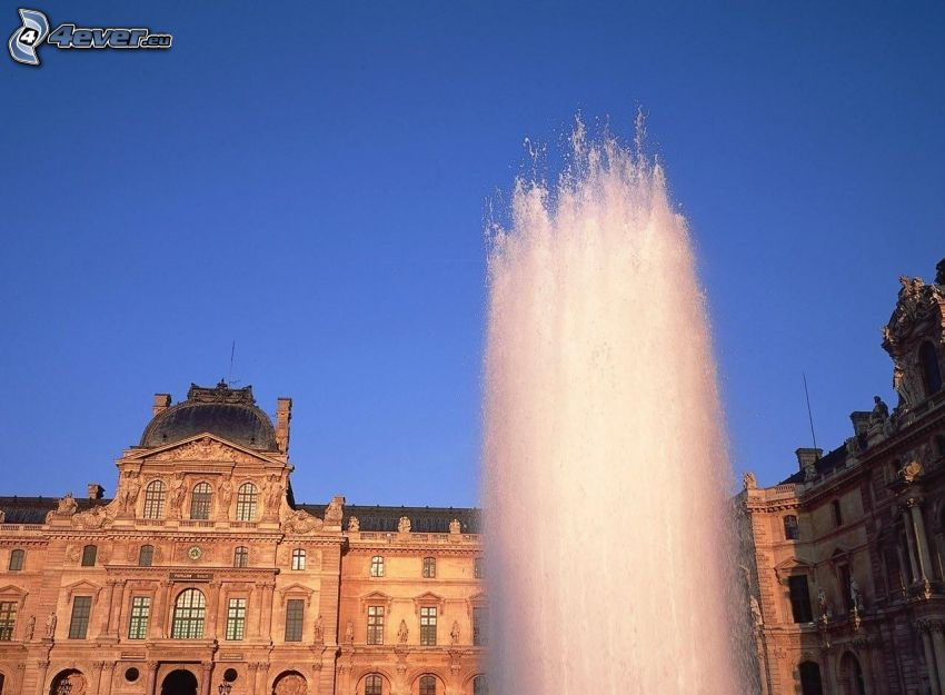 fountain, building