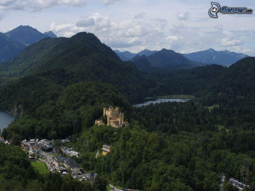 Hohenschwangau Castle, Bavaria, mountains