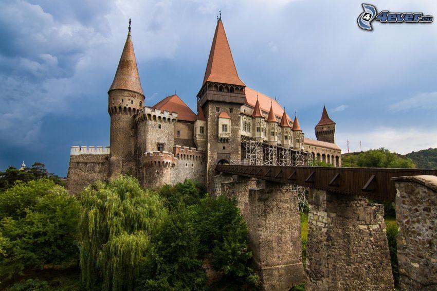 Hunyad, castle, bridge