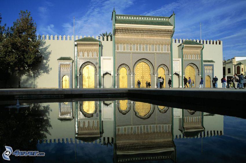 Morocco Royal Palace, building, fountain
