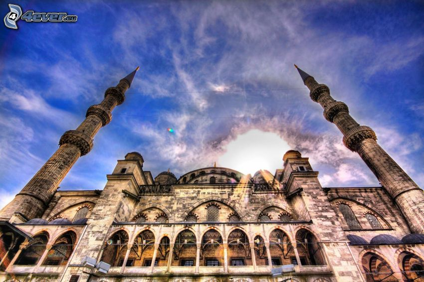 mosque, HDR