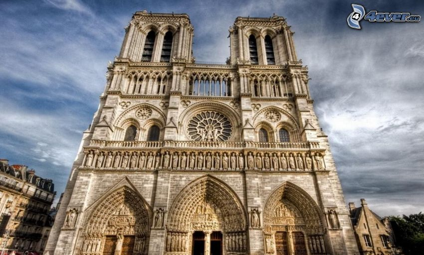 Notre Dame, cathedral, Paris, HDR